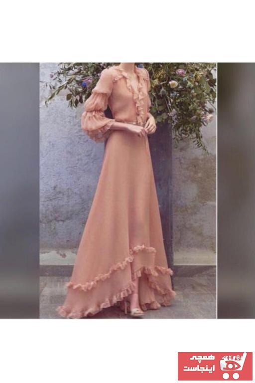 فروشگاه لباس مجلسی زنانه سال ۹۹ برند Ahsenserra رنگ صورتی ty64009080