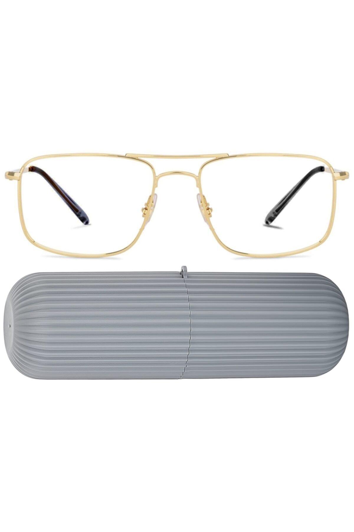 عینک دودی مردانه جدید برند KaktüsKedi رنگ طلایی ty65005763