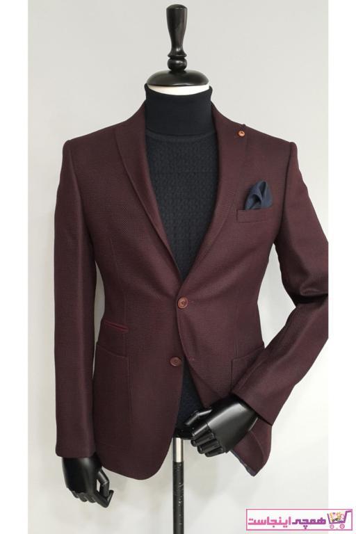 فروش کت تک مردانه جدید برند crispino رنگ زرشکی ty66195113