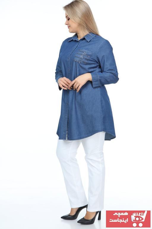 خرید نقدی تونیک پاییزی زنانه برند FELİCE رنگ آبی کد ty66196585