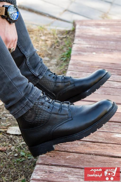 نیم بوت پاییزی مردانه برند Kibar Ayakkabı رنگ مشکی کد ty66408092