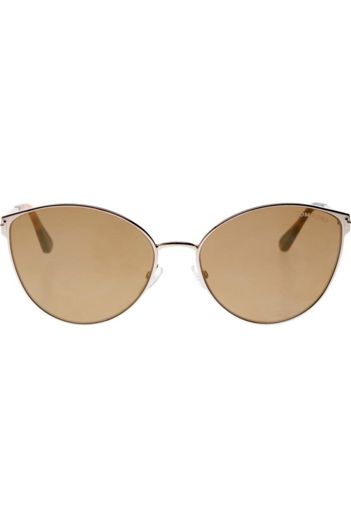 عینک دودی مردانه مدل دار برند Tom Ford رنگ بژ کد ty66563815