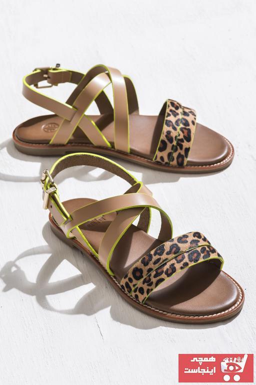 فروشگاه صندل اورجینال برند Elle Shoes رنگ قهوه ای کد ty6784178