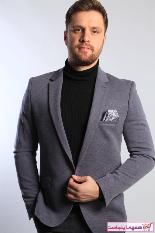 فروش پستی کت تک مردانه اصل جدید برند intersivin رنگ لاجوردی کد ty68659636