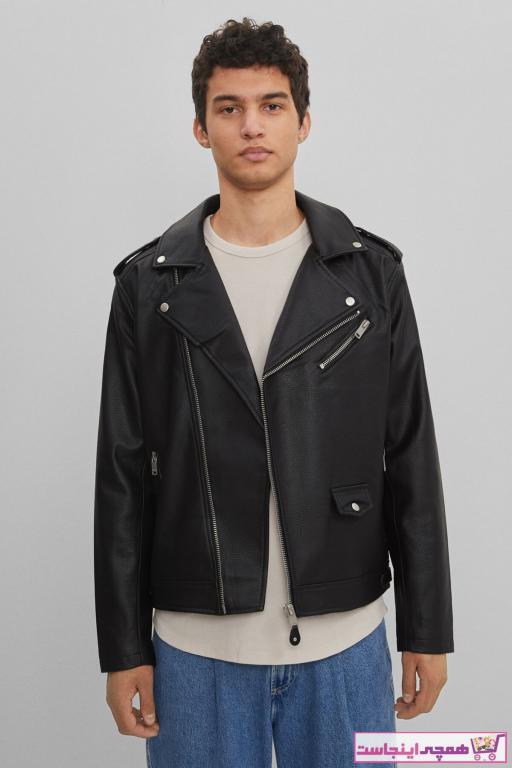 ژاکت چرم زیبا مردانه برند برشکا رنگ مشکی کد ty68809334