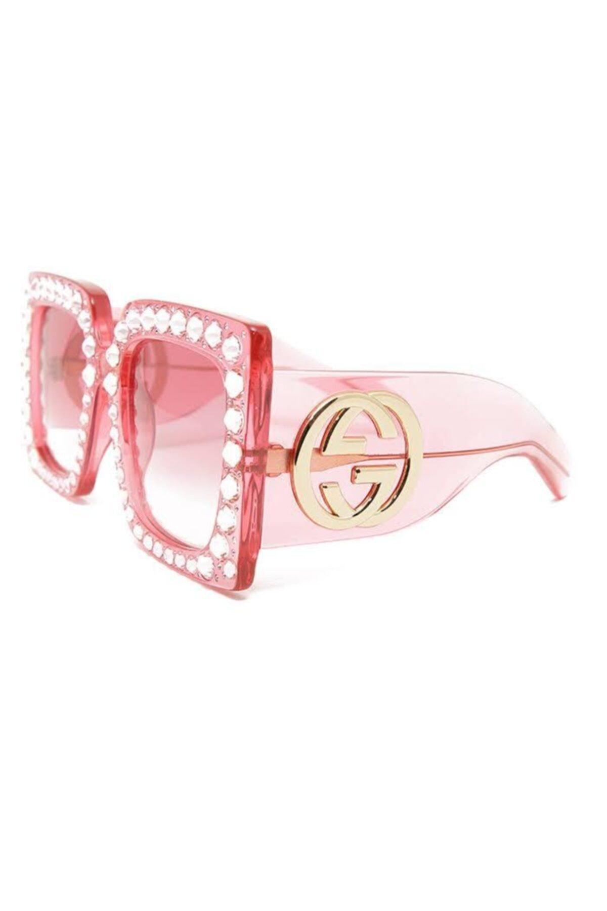 فروشگاه عینک آفتابی اورجینال برند گوچی رنگ صورتی ty69007522