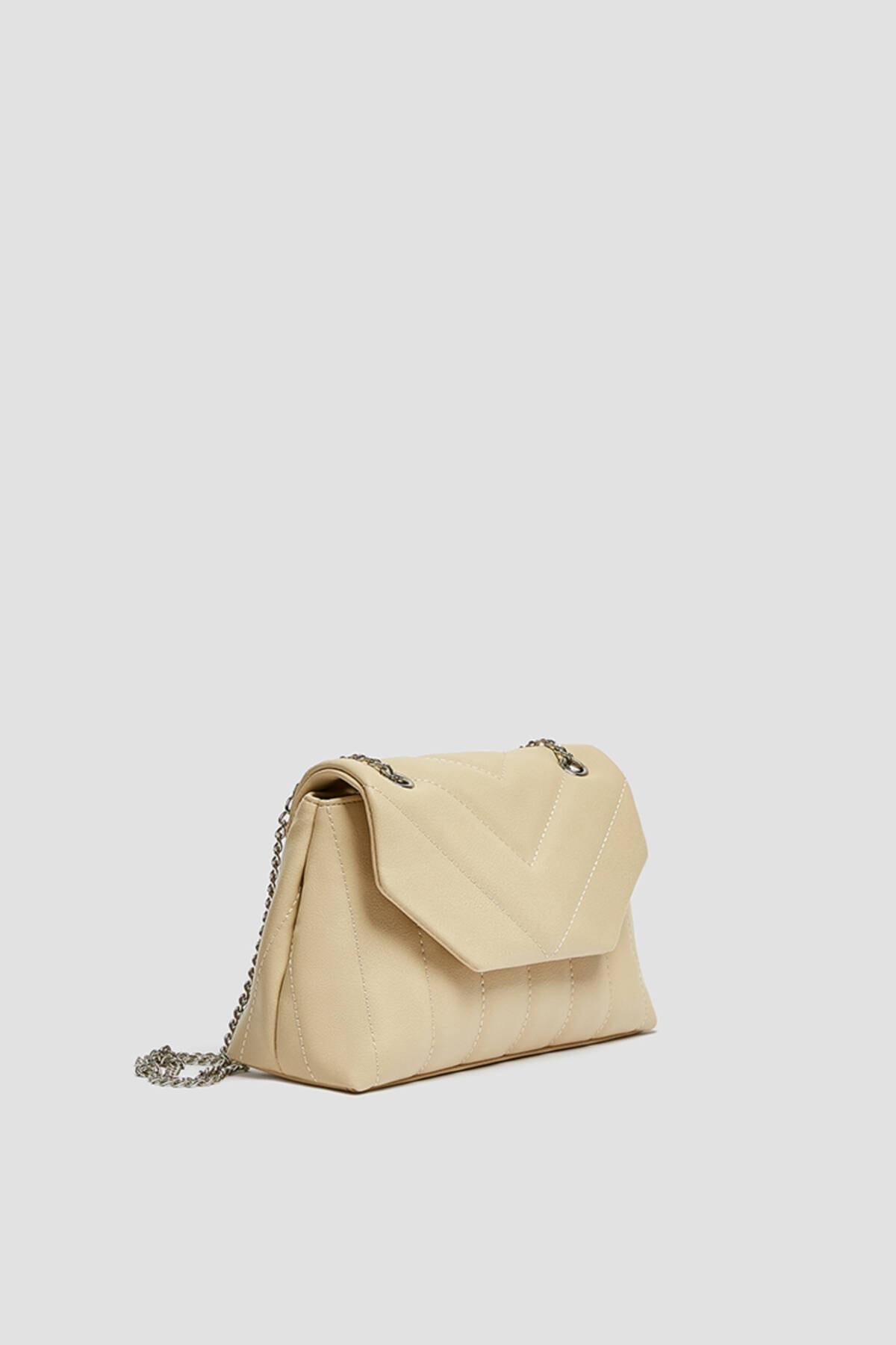 خرید مدل کیف دستی دخترانه برند Pull & Bear رنگ بژ کد ty69110321
