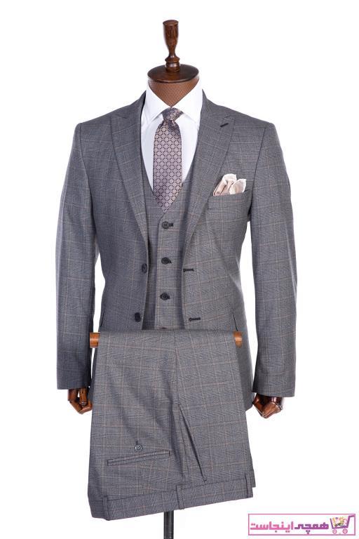 کت شلوار مردانه برند AEK FIORE رنگ نقره ای کد ty69225893