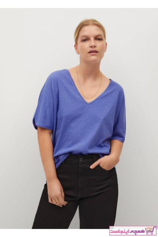 تیشرت زنانه مارک برند Violeta by MANGO رنگ آبی کد ty69544349