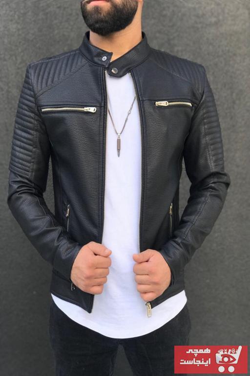خرید نقدی ژاکت چرم مردانه برند Zago رنگ مشکی کد ty69630173