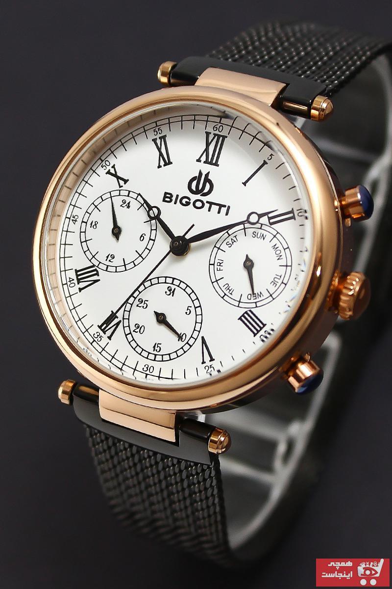 خرید ساعت مچی زنانه 2021 برند Bigotti رنگ مشکی کد ty7010598