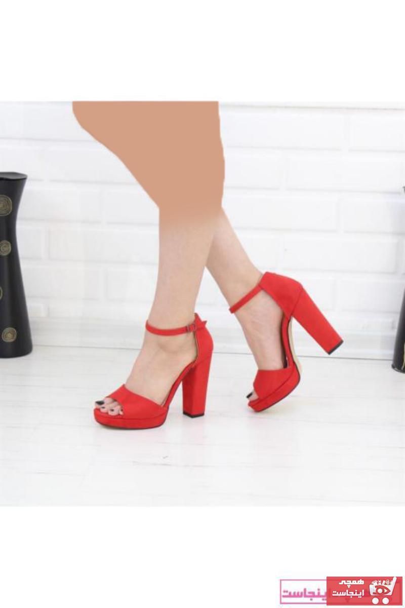 فروش صندل زنانه اصل و جدید برند Nesil Shoes رنگ قرمز ty70762062