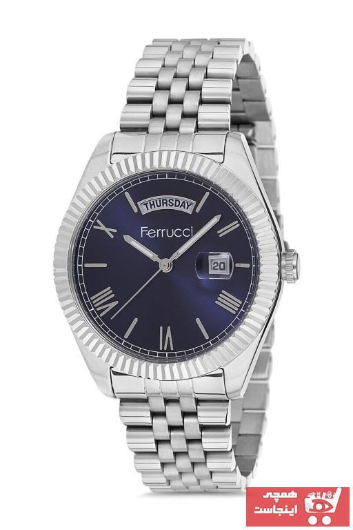 خرید انلاین ساعت مردانه  ارزان برند Ferrucci رنگ لاجوردی کد ty70920671
