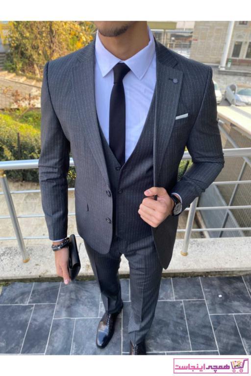 خرید انلاین کت شلوار طرح دار برند ZEYREK SİR رنگ نقره ای کد ty71230344
