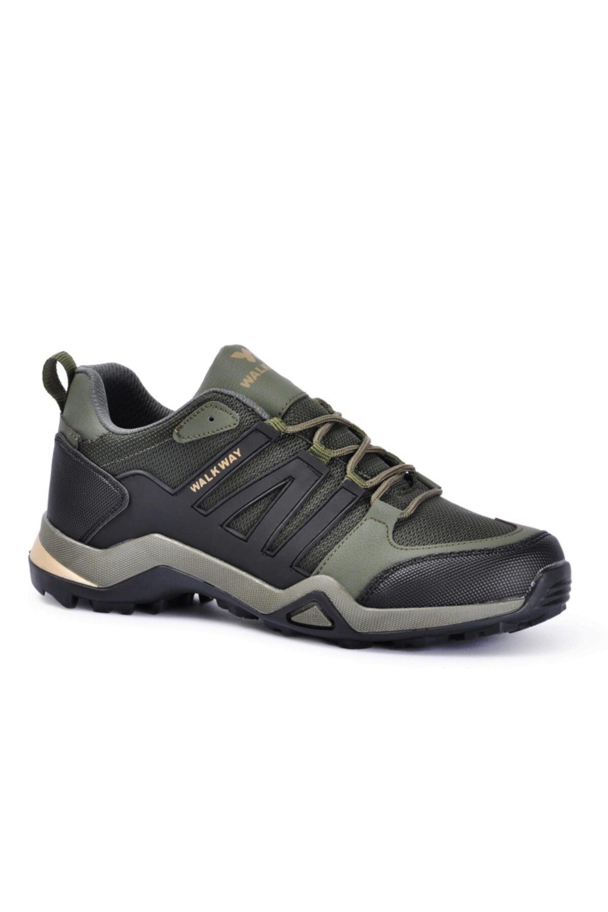 کفش کوهنوردی مردانه مارک برند WALKWAY رنگ خاکی کد ty71570508
