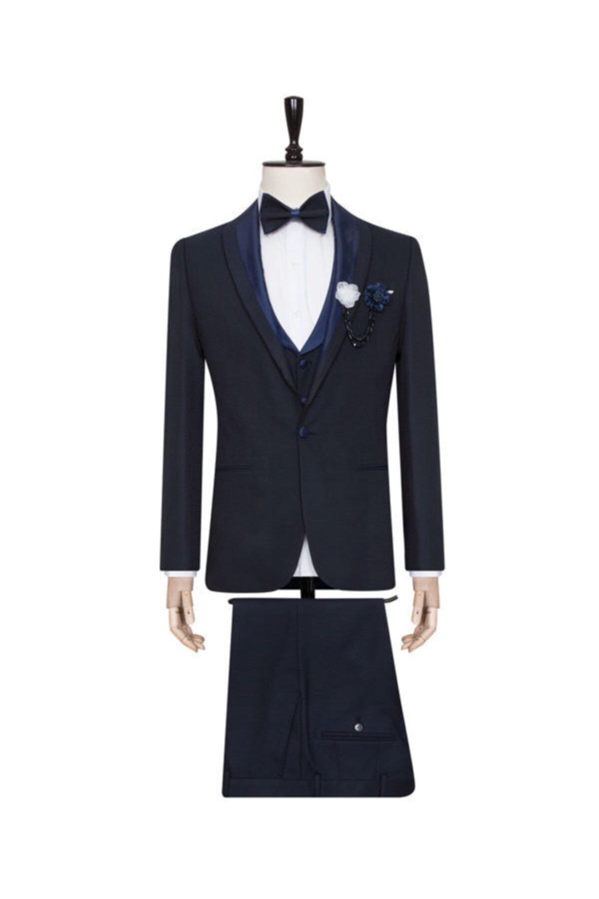 کت شلوار مردانه اسپرت جدید برند SÜVARİ رنگ لاجوردی کد ty72549924