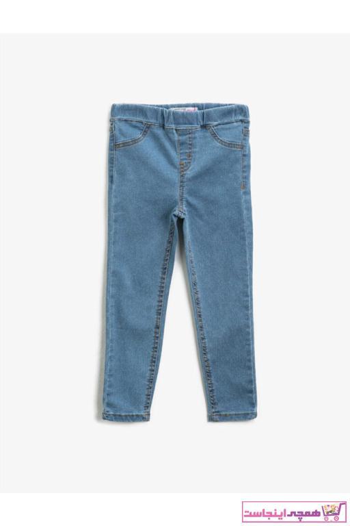 شلوار جین بچه گانه دخترانه حراجی برند کوتون رنگ آبی کد ty72781393