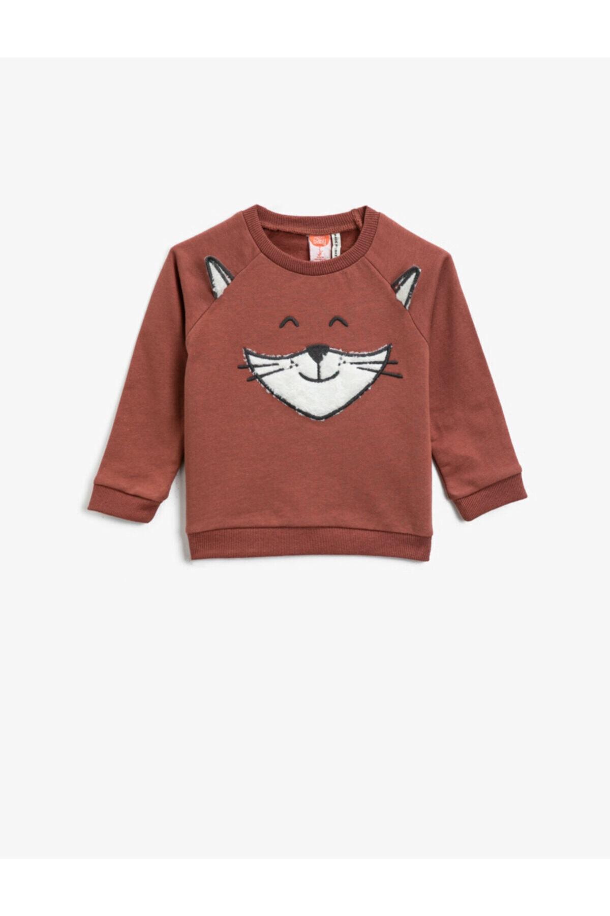 خرید سویشرت نوزاد پسرانه شیک برند کوتون رنگ قهوه ای کد ty72806539