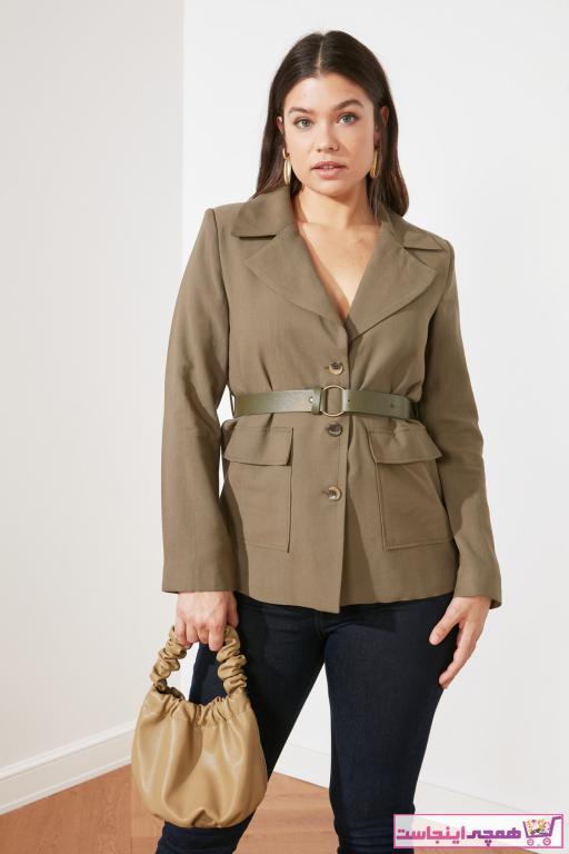 سفارش ژاکت زنانه ارزان مارک ترندیول میلا رنگ خاکی کد ty73212385
