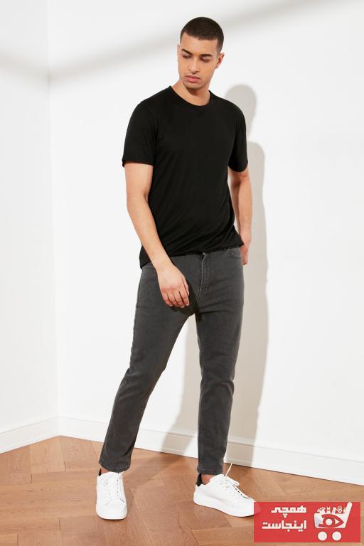 فروش پستی شلوار جین مردانه ترک برند ترندیول مرد رنگ نقره ای کد ty73530875
