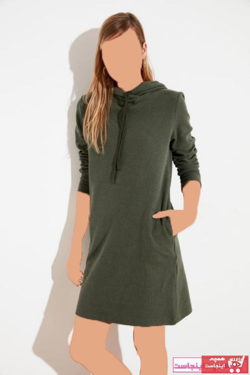خرید نقدی پیراهن شلوارک زنانه برند ترندیول میلا ترک رنگ خاکی کد ty73533147