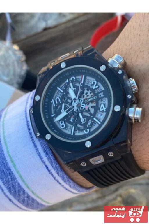 خرید انلاین ساعت مچی مردانه 2021 برند COMMES رنگ مشکی کد ty74144137