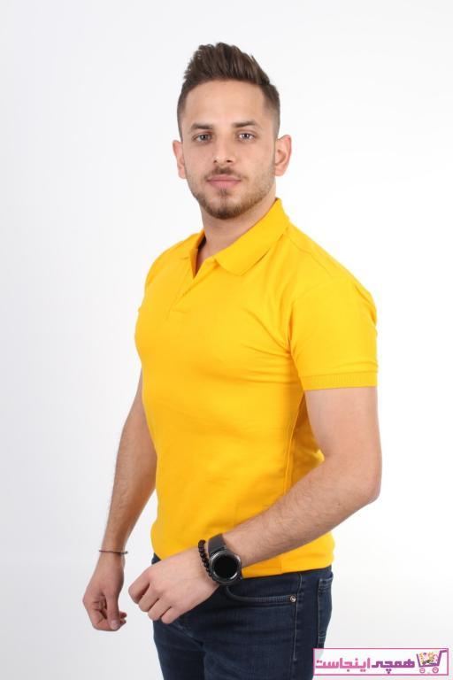 تیشرت مردانه نگیندار برند TREND YAŞAR رنگ زرد ty74308613