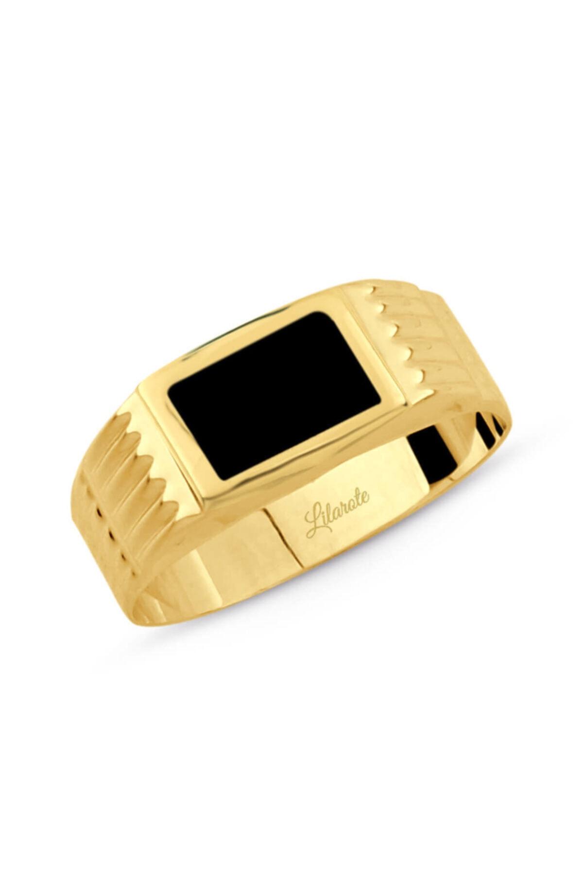 سفارش انگشتر طلا مردانه ارزان برند Lilarote Pırlanta رنگ سبز کد ty75064452