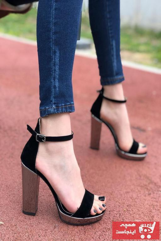 خرید نقدی کفش پاشنه بلند مجلسی جدید برند MODAADAM رنگ مشکی کد ty75199158