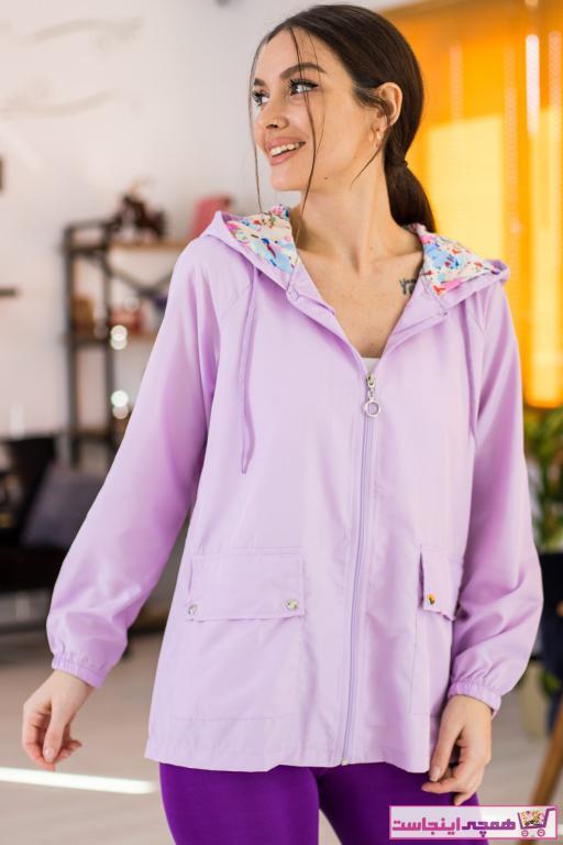 خرید بارانی زنانه ترک جدید برند armonika رنگ بنفش کد ty75253778