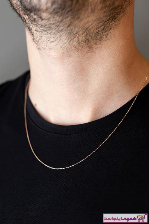 خرید نقدی گردنبند طلا مردانه ترک  برند Cenova Kuyumculuk رنگ صورتی ty75341002