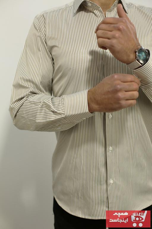 خرید انلاین پیراهن کلاسیک مردانه خاص PASSERO رنگ بژ کد ty75541445