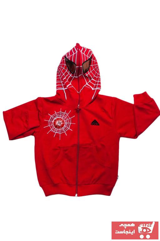 سویشرت پسرانه نخ پنبه برند Gigas رنگ قرمز ty75604226