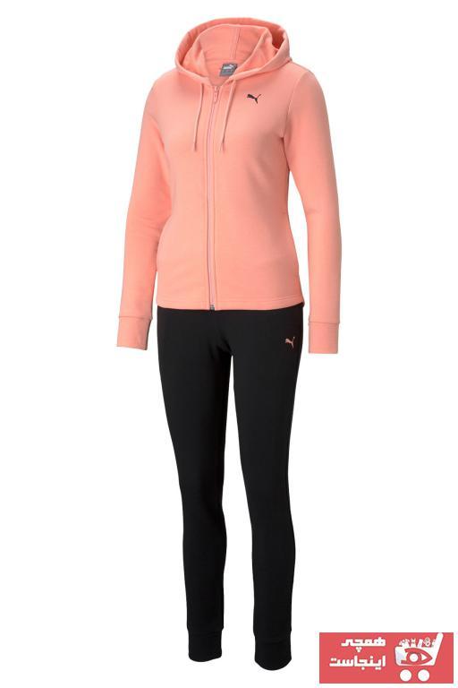 خرید اینترنتی گرمکن ورزشی زنانه ارزان برند پوما رنگ صورتی ty75724357
