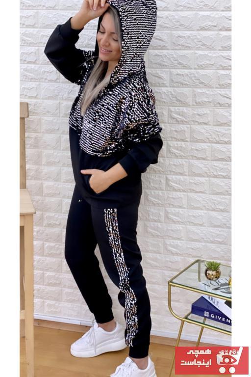 خرید نقدی ست ورزشی زنانه فروشگاه اینترنتی برند SEDA FİDAN رنگ مشکی کد ty76097045