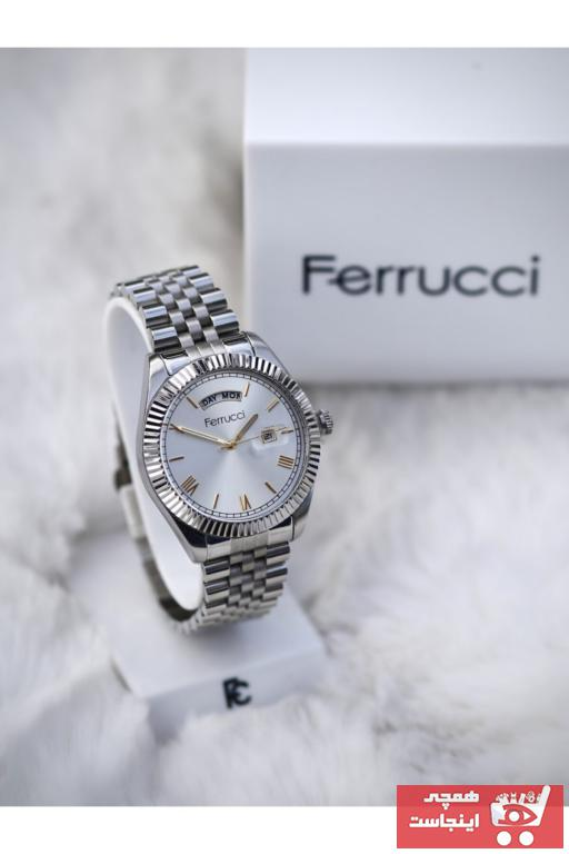 خرید پستی ساعت مچی مردانه لوکس برند Ferrucci رنگ نقره کد ty76121166