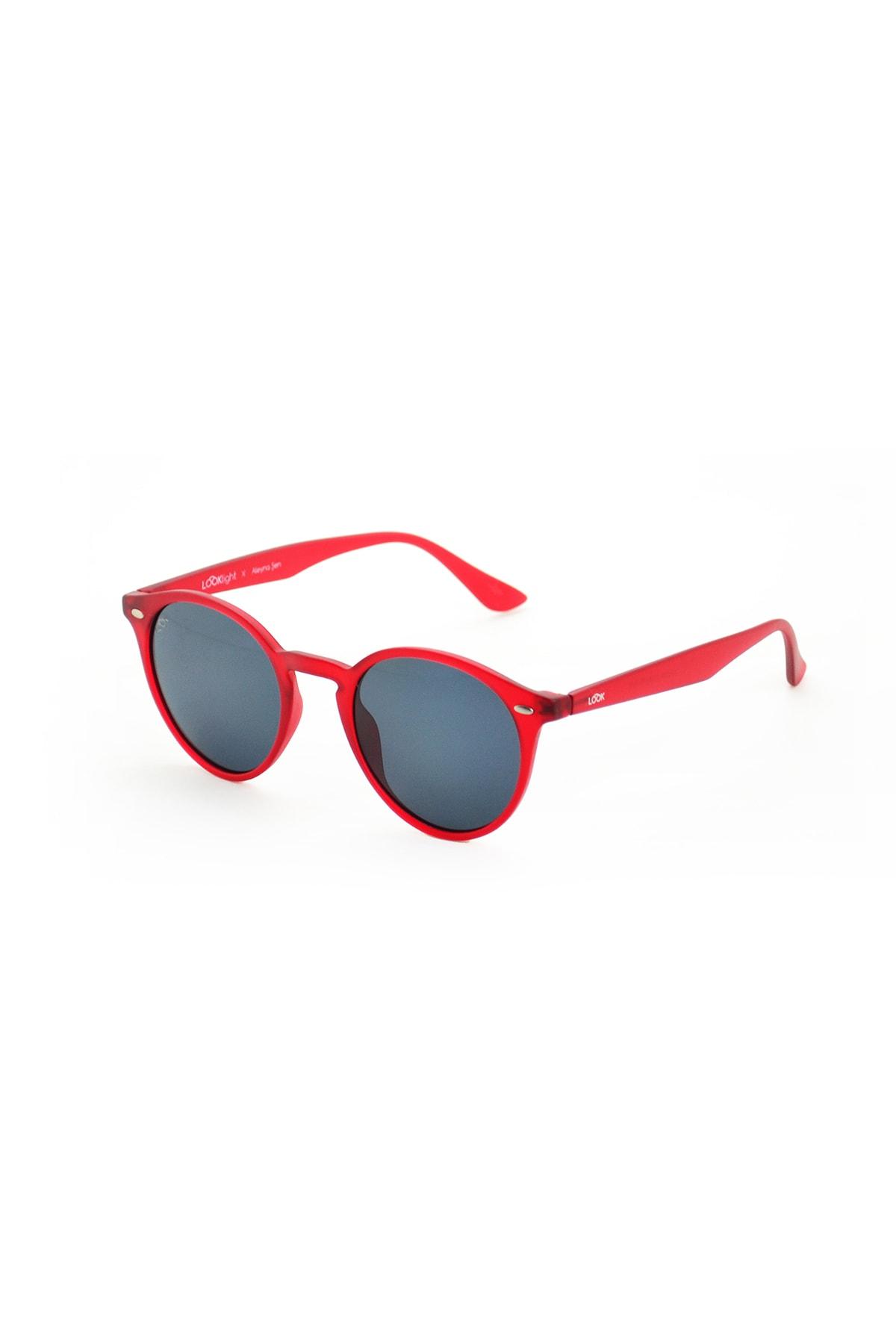 خرید اینترنتی عینک آفتابی بلند برند LOOKlight رنگ قرمز ty76142687