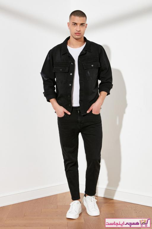سفارش انلاین شلوار جین ساده برند ترندیول مرد رنگ مشکی کد ty76229981