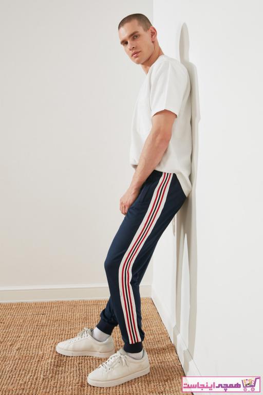 خرید انلاین شلواراسلش زیبا مردانه مارک ترندیول مرد رنگ لاجوردی کد ty76740042
