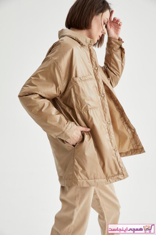 بارانی زنانه ارزان قیمت مارک دفاکتو رنگ قهوه ای کد ty77214819