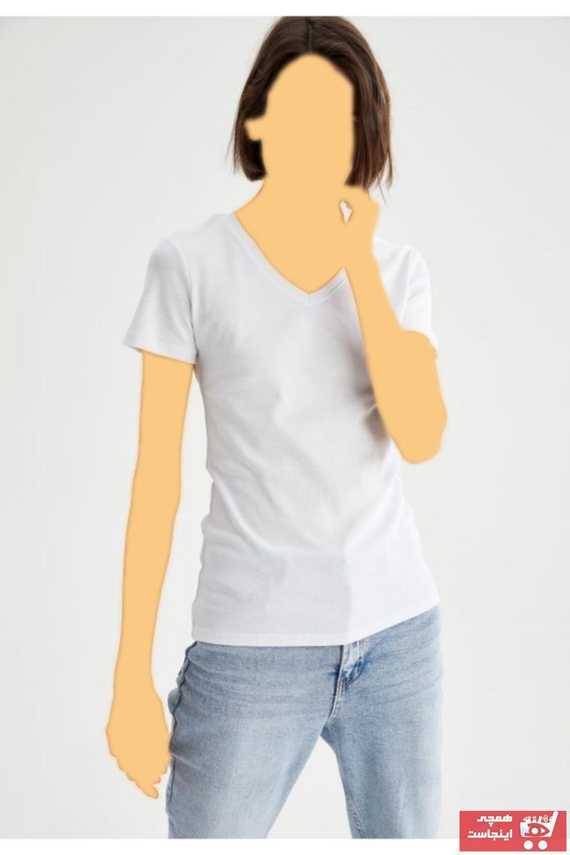 فروشگاه تیشرت زنانه سال ۹۹ مارک دفاکتو کد ty77479465