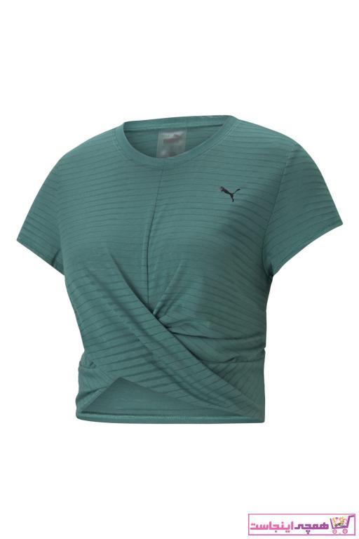 فروش تیشرت ورزشی مردانه نخی برند پوما رنگ سبز کد ty77539880