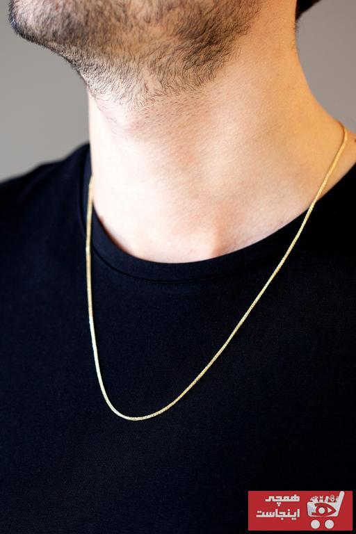 سفارش اینترنتی گردنبند طلا مردانه برند Uşaklıhafız kuyumculuk رنگ زرد ty77798441