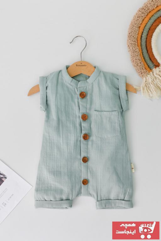 ست لباس نوزاد دخترانه اینترنتی برند Banamio رنگ آبی کد ty77905459