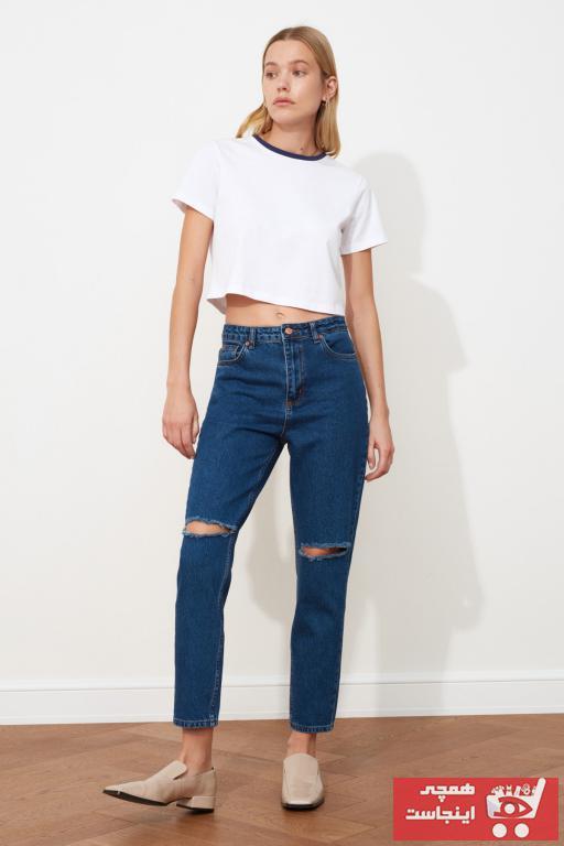 مدل شلوار جین 2020 مارک ترندیول میلا رنگ آبی کد ty78321884