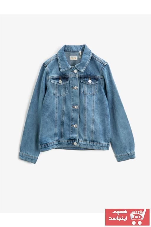 خرید انلاین ژاکت دخترانه ترکیه برند کوتون رنگ آبی کد ty79441927