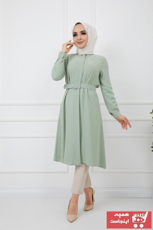 فروش تونیک زنانه نخی برند Bayanca Moda رنگ سبز کد ty79617709
