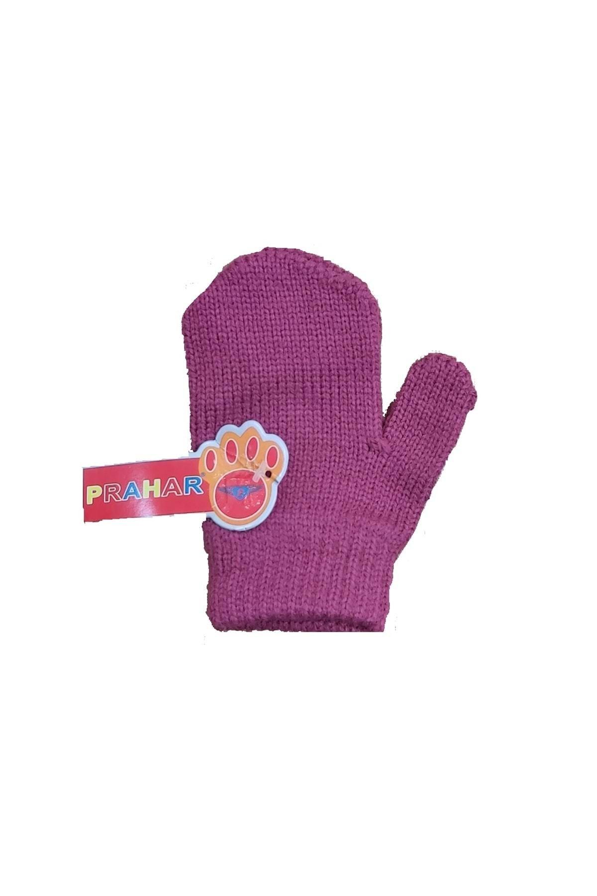 خرید ارزان دستکش بچه گانه دخترانه  برند Prahar رنگ صورتی ty79622070