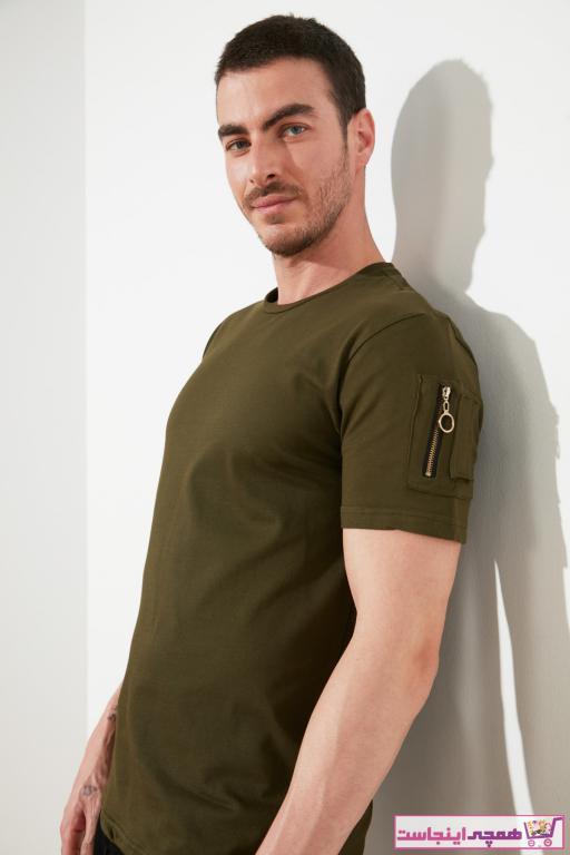 خرید انلاین تیشرت مردانه خاص مارک ترندیول مرد رنگ خاکی کد ty79794810