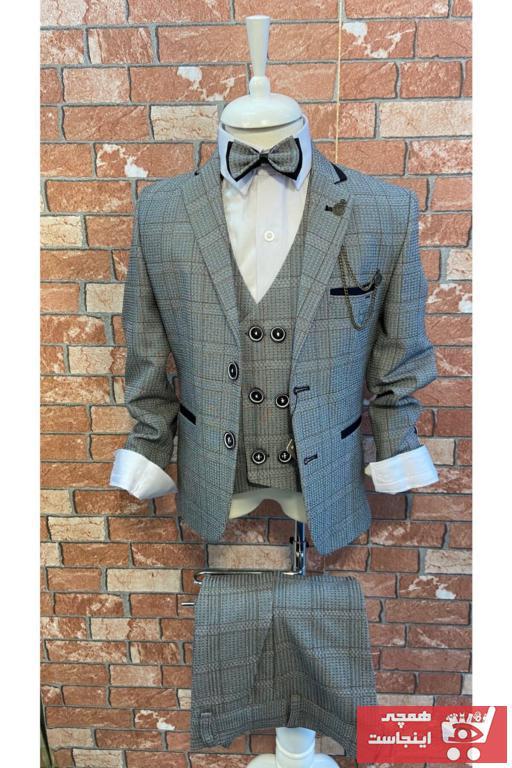 لباس مجلسی پسرانه فروش برند HAYTA رنگ نقره ای کد ty80143785